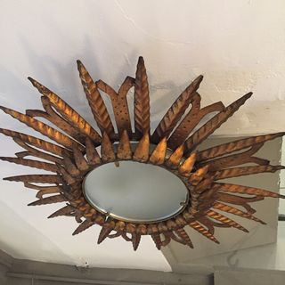 Gilt Metal Ceiling Light