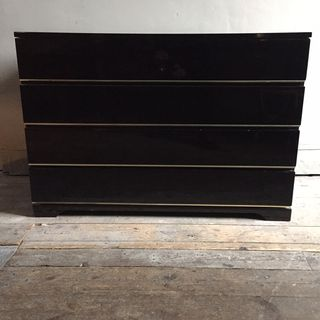 Black Lacqured Commode