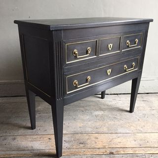 Pretty Ebonised Commode