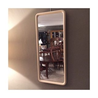 Slim Frame White Mirror