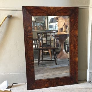 19th Century Walnut Mirror