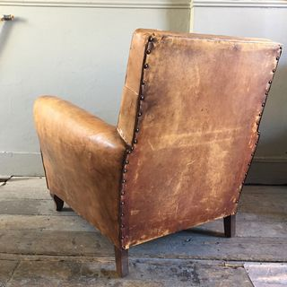 French Leather Club Armchair