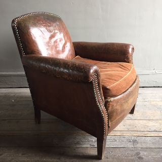 Studded Leather Armchair