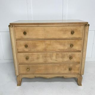 1940s French Sycamore Commode
