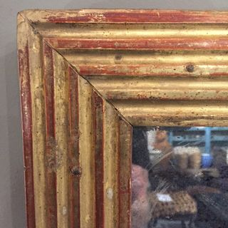 Large 19th Century French Reeded Mirror