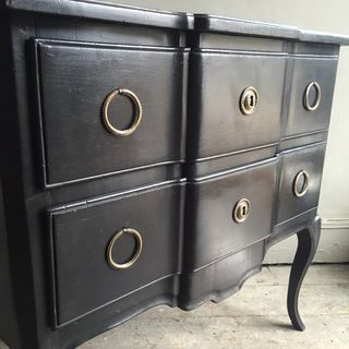 Ebonised Commode