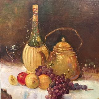 Still Life - Wine and Fruit
