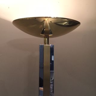 Brass & Chrome Floor Lamp