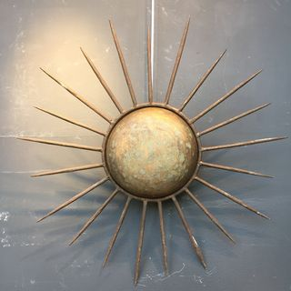 Gilt Metal Sunburst Light