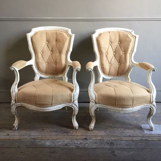 Buttoned Open Armchairs