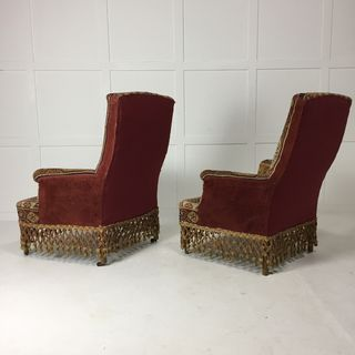 A Pair of Carpet Armchairs