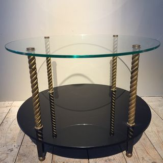 Brass and Glass Round Table
