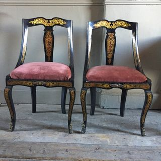 Boulle Side Chairs