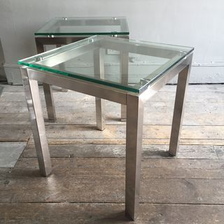 Steel and Glass End Tables