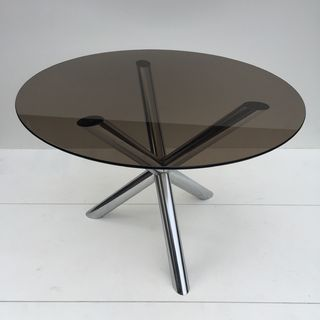 Chrome and Glass Top Table