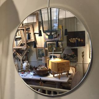 Round Chrome Mirror