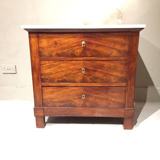Marble Topped Mahogany Commode