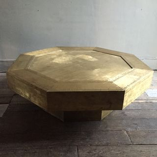 Octagonal Brass Coffee Table